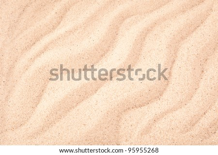 Sand waves used as a background - stock photo