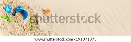 sandcastle banner  - stock photo