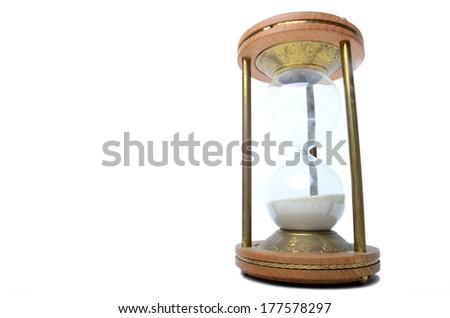 sandglass on white background  - stock photo