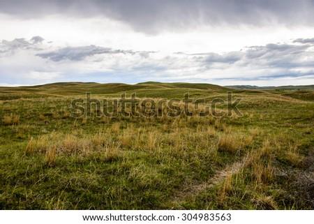 Sandhills of Nebraska  - stock photo