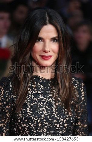 Sandra Bullock arriving for the Gravity Premiere, at the BFI London Film Festival 2013, Odeon Leicester Square, London. 10/10/2013 - stock photo