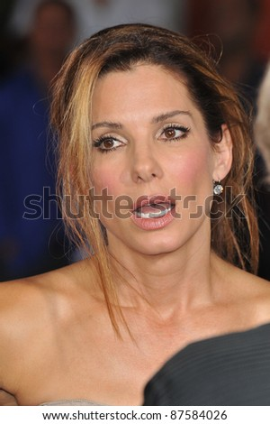 "Sandra Bullock at the world premiere of her new movie ""All About Steve"" at Grauman's Chinese Theatre, Hollywood. August 26, 2009  Los Angeles, CA Picture: Paul Smith / Featureflash - stock photo"