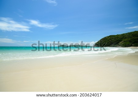 Sands of White Beach Holiday - stock photo