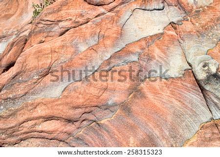 sandstone colorful in Petra Jordan  - stock photo