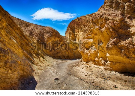 Sandstone details and vista. Death Valley National Park, California. - stock photo