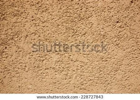 Sandstone wall. - stock photo