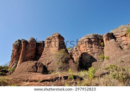 sandstones - Vila Velha - Brazil - stock photo
