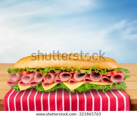 Sandwich. - stock photo