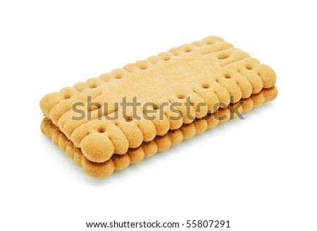 sandwich biscuit - stock photo