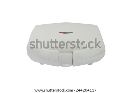 sandwich maker isolated on white background - stock photo