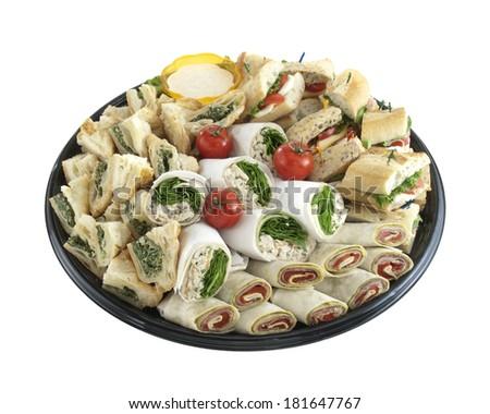 Sandwich tray - stock photo