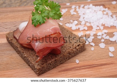 sandwich with bacon - stock photo