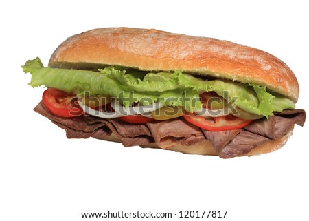 Sandwich with meat - stock photo