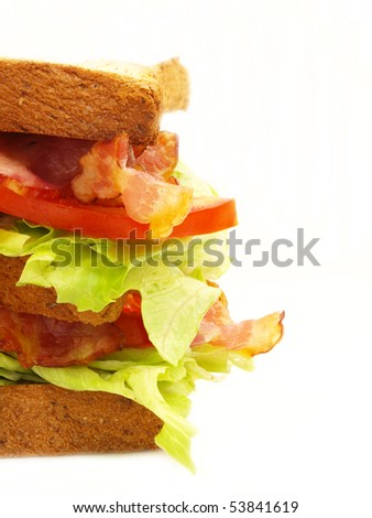 sandwich with some copy space isolated object - stock photo