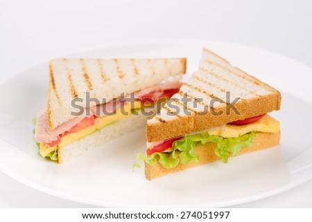 sandwiches - stock photo