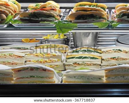 Sandwiches in a bar - stock photo