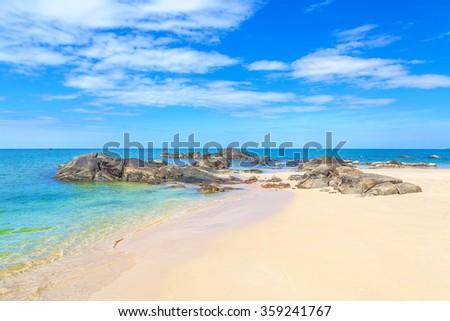 Sandy beach at Khao Lak - stock photo