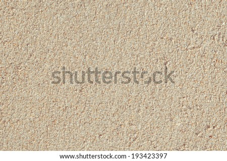 Sandy beach for background, Top view, Coler effect - stock photo