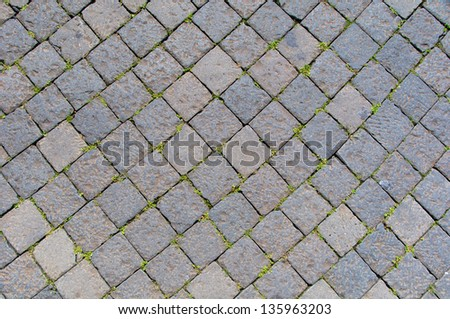 Sanpietrini, typical Rome pavement, Italy - stock photo