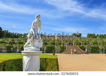 Sanssouci palace, Potsdam, Germany - stock photo