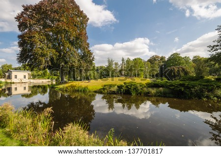 Sanssouci Park magnificent view. Potsdam, Germany. - stock photo