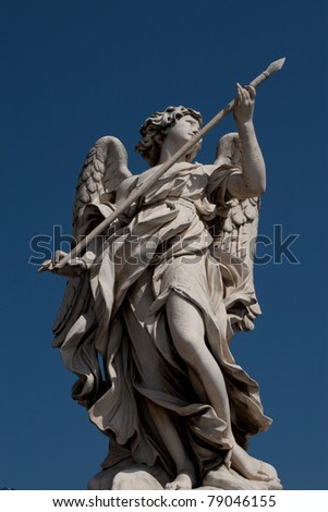 Sant'Angelo Bridge in Rome, Italy  (september 2007) - stock photo