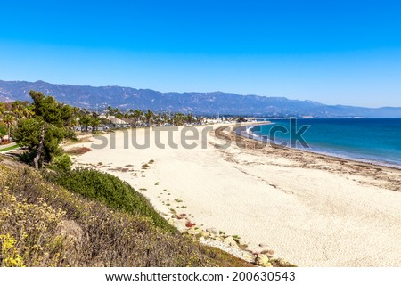 Santa Barbara Beach view - stock photo