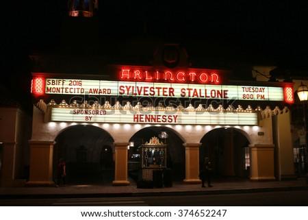 SANTA BARBARA - FEB 9: Arlington Theatre at the Montecito Award at the Arlington Theatre at the 31st Santa Barbara International Film Festival on February 9, 2016 in Santa Barbara, CA - stock photo