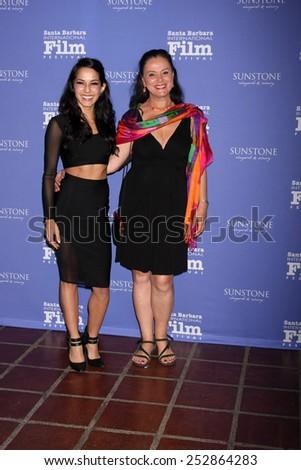 SANTA BARBARA - FEB 5:  Paola Baldion, Florence Jaugey at the Santa Barbara International Film Festival - American Riviera Award at a Arlington Theater on February 5, 2015 in Santa Barbara, CA - stock photo