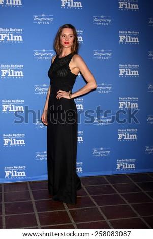 SANTA BARBARA - JAN 29:  Erinn Hayes at the Santa Barbara International Film Festival - Cinema Vanguard Award at a Arlington Theater on January 29, 2015 in Santa Barbara, CA - stock photo