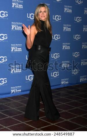 SANTA BARBARA - JAN 30:  Jennifer Aniston at the Santa Barbara International Film Festival - Montecito Award at a Arlington Theater on January 30, 2015 in Santa Barbara, CA - stock photo