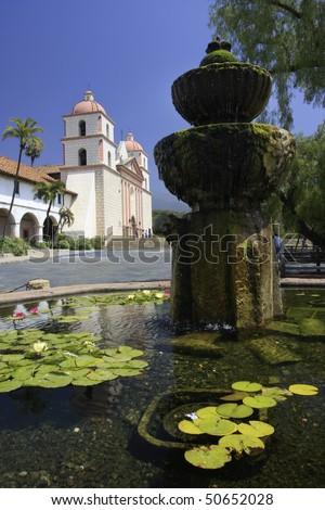 Santa Barbara Mission, California - stock photo