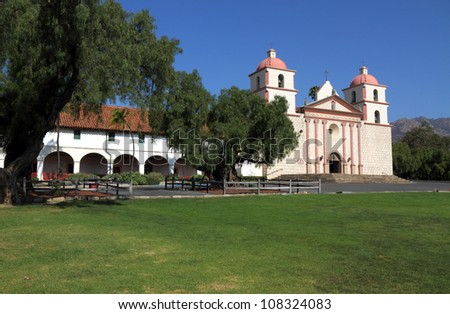 Santa Barbara Mission, California, USA - stock photo