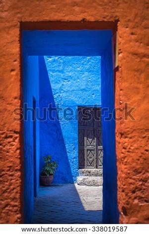 Santa Catalina Monastery, Arequipa, Peru - stock photo