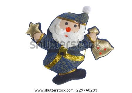 Santa Claus as Christmas decoration - stock photo