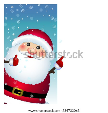 Santa Claus card - stock photo