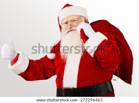 Santa Claus, Cheerful, Christmas. - stock photo