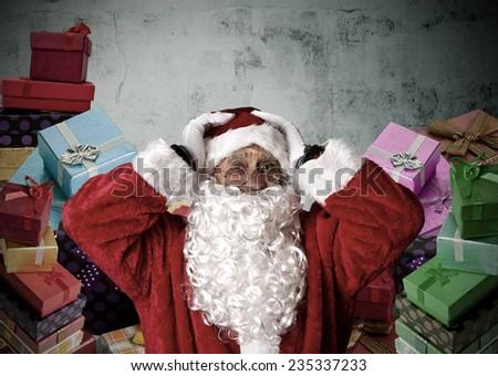santa claus, christmas - stock photo