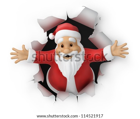 Santa Claus, 3d illustration.  animation http://footage.shutterstock.com/clip-2952436 - stock photo