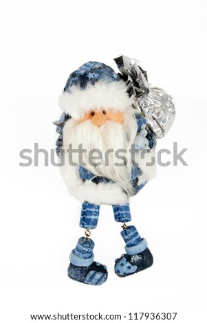 Santa Claus doll. Isolated - stock photo