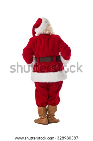 Santa Claus Full-Length Portrait from behind - stock photo