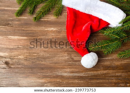 Santa Claus hats  - stock photo