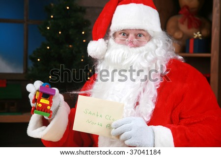 Santa Claus his mail from around the world - stock photo