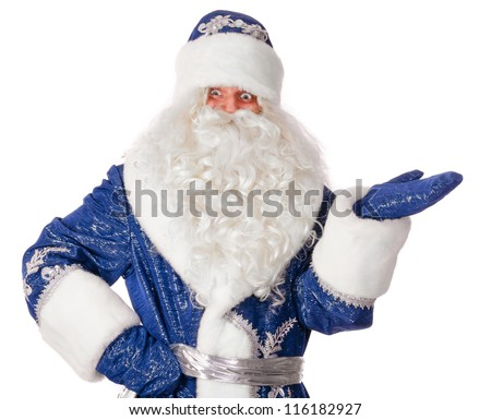 santa claus isolated on white - stock photo