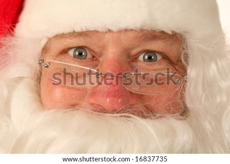 Santa Claus portrait close up - stock photo