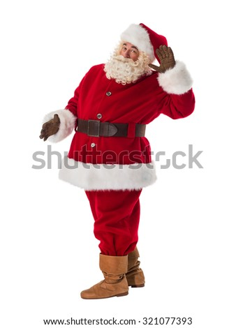 Santa Claus Portrait. Listening gesture - stock photo