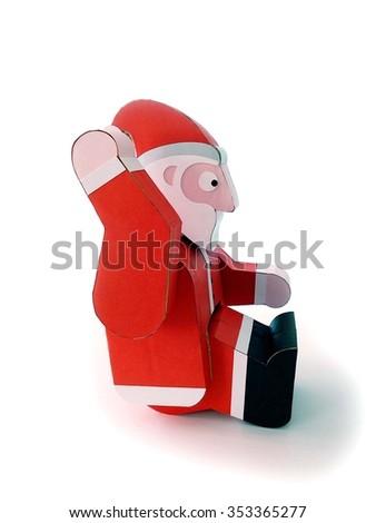 SANTA CLAUS SITTING - stock photo