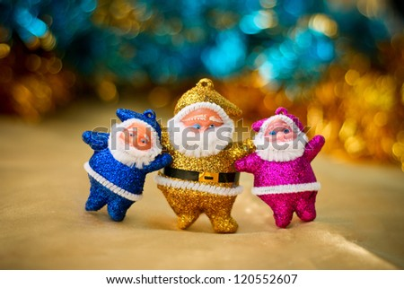 Santa Claus toy - stock photo