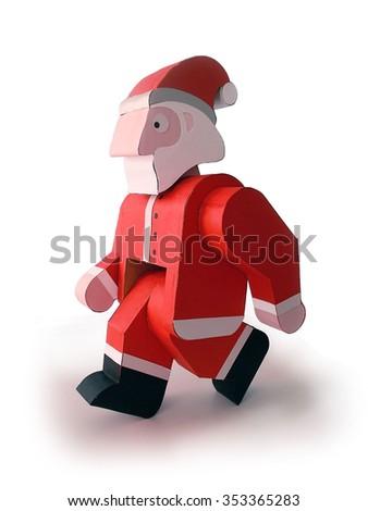SANTA CLAUS WALKING - stock photo