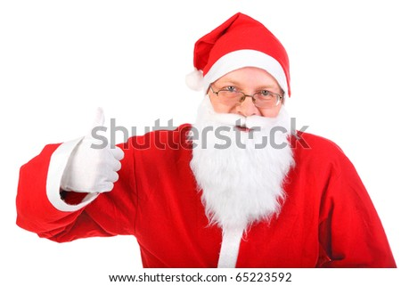 santa claus with thumb up - stock photo